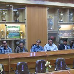 مراسم تودیع و معارفه رئیس هیات والیبال برگزار شد